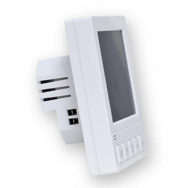 Termostat HD-T02 k topné fólii - pohled zboku