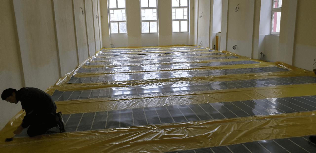 Podlahové vytápění v historické budově