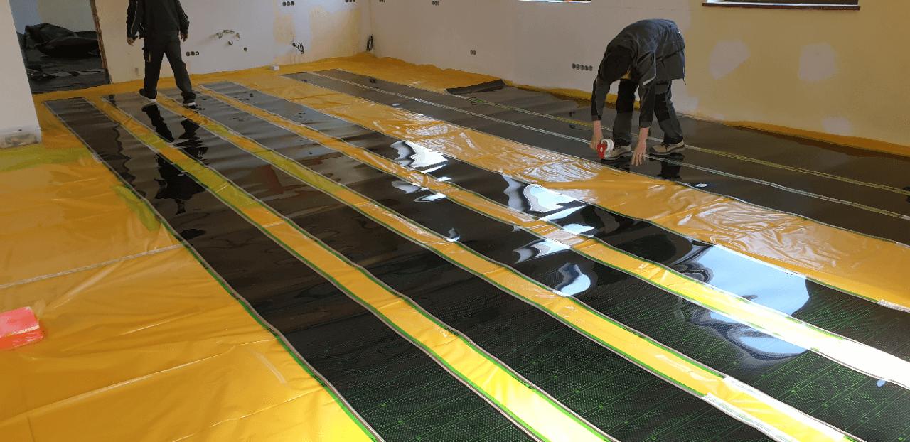 Podlahové vytápění kanceláří a produkční haly