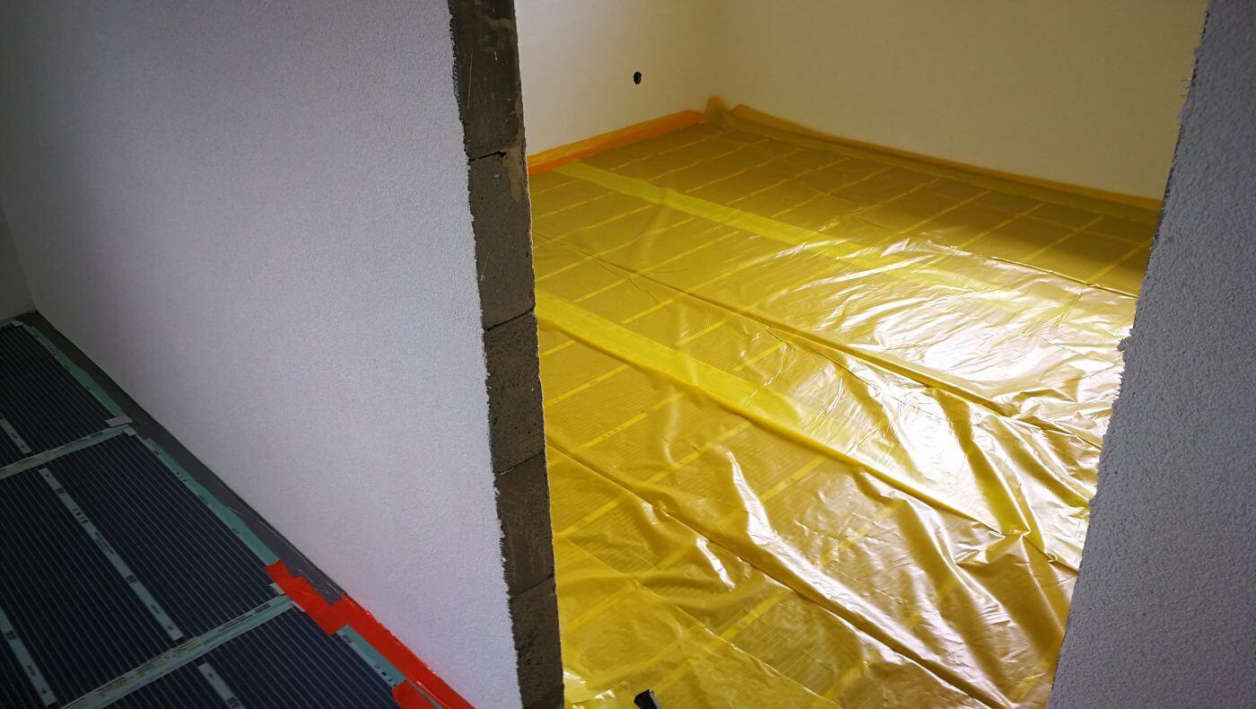 Montáž podlahového vytápění - rodinný dům