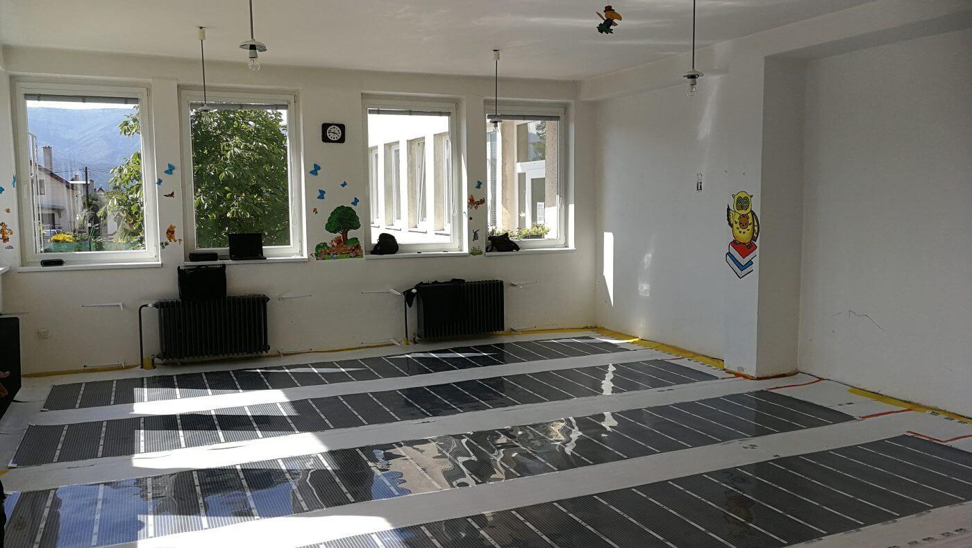 Podlahové topení pro mateřskou školu