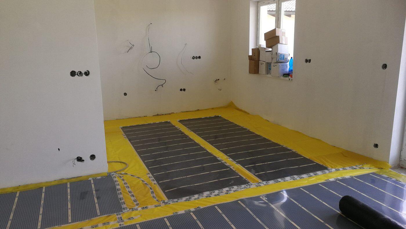 Podlahové topení RD developerský projekt