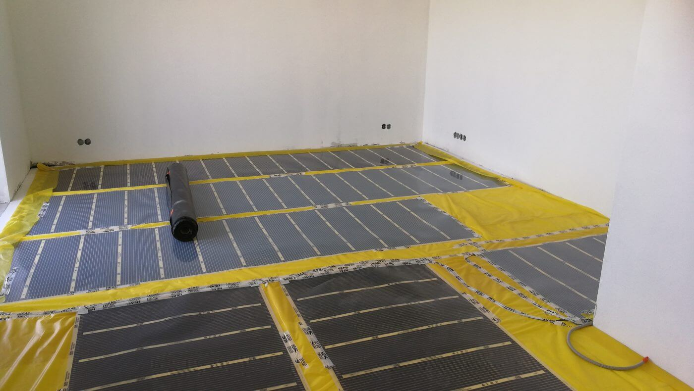 Podlahové topení RD developerský projekt - montáž