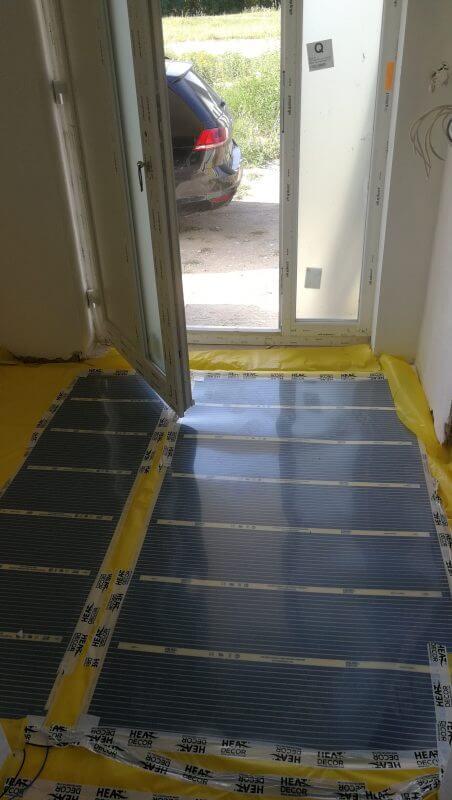 Podlahové topení RD developerský projekt - chodba