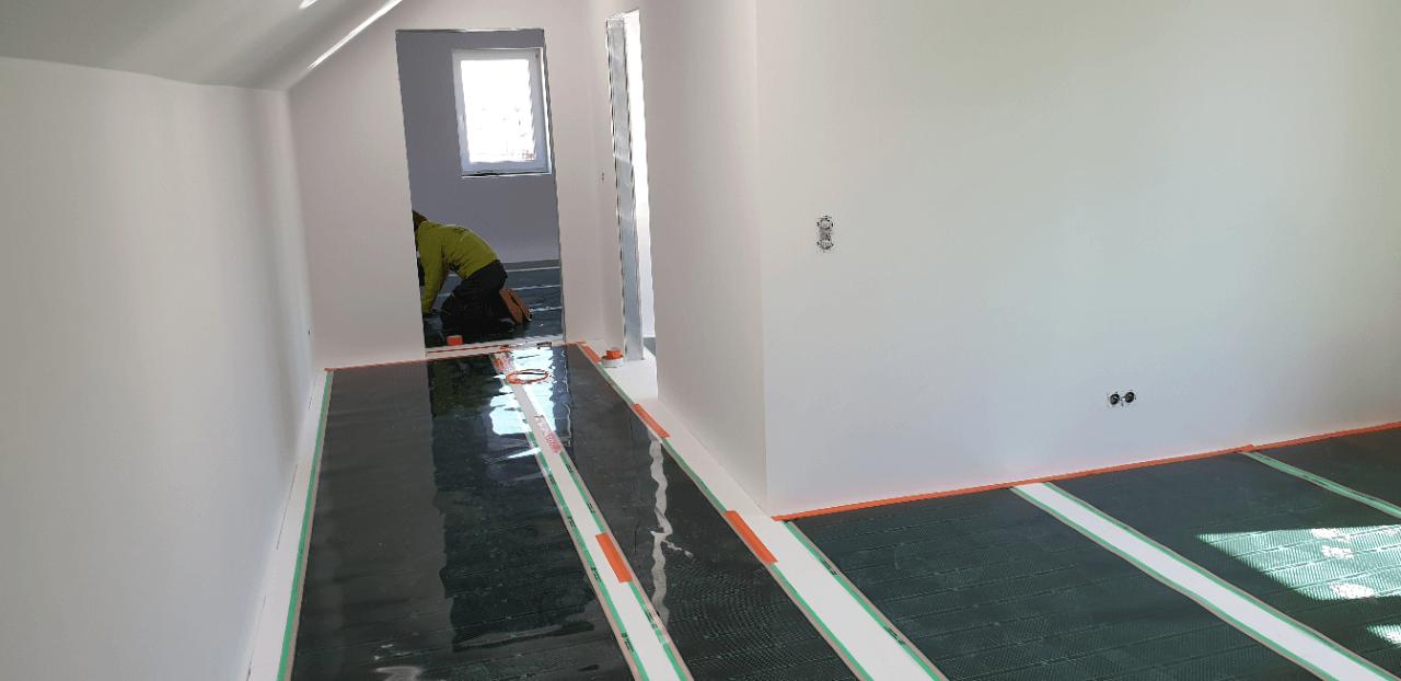 Podlahové vytápění podkrovní byt